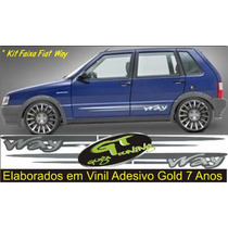 Kit Faixas Laterais Para Fiat Uno Way (guga)
