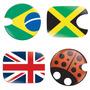 Adesivo Bandeira Do Brasil Para Tampa De Combustível.