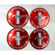 Emblemas Centro Rodas Mustang Ford Gt Fastback Hardtop V8 V6