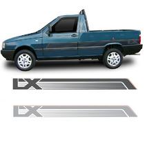 Kit De Faixas Adesivo Pick-up Fiorino Lx 90 Grafite Ou Prata