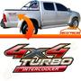 Adesivo Lateral Caçamba 4x4 Turbo Intercooler Hilux 09 10