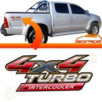 Emblema Adesivo Caçamba 4x4 Turbo Intercooler Hilux 09 10