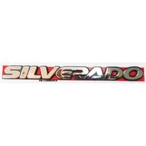 Emblema Silverado Cromado Com Fundo Preto Linha Gm 97