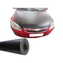 Adesivo Preto Fosco Automotivo Envelopamento Capo 150x122cm