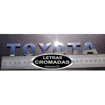 Emblema Toyota Cromados 3cm Com Adesivo 3m