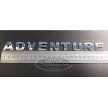 Emblema Adventure Cromados De 2cm Com Adesivo 3m