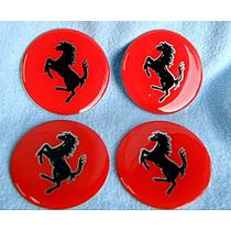 58mm Emblemas Centro Rodas Verm. Ferrari Novos!