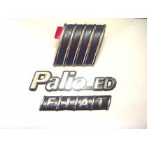 Kit Emblemas Palio Ed + Capo E Mala 96/99 - Bre