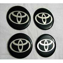 Fundo Chato 50mm Emblemas Centro Rodas Pr Toyota Novos