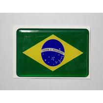 Adesivo Bandeira Brasil Resinado 6x4cm Bd1 - Decalx
