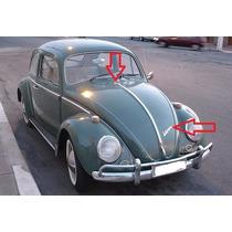 Emblema Manuscrito Volkswagen + Simbolo Vw Do Capo Fusca