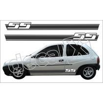 Kit Faixas Adesivos Chevrolet Corsa Ss Cm3003 - 3m - Decalx