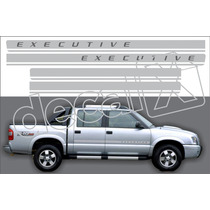 Faixas S10 2009/2010 Executive Lateral Aco Escovado - Decalx