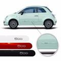 Jogo Friso Lateral Fiat 500 2 Portas Pintado Preto Vermelho