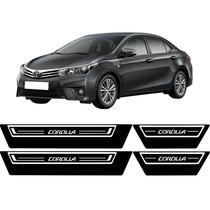 Jgo Soleira Resinada Toyota Corolla 2015 Com Base Preta