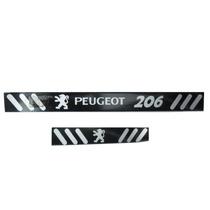 Soleira Vinil Preto Fosco Peugeot 206 4 Portas