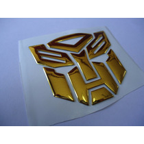 Adesivo Tuning Transformers Autobot + Decepticons - Dourado