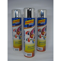 Tinta Spray Cromado Automotiva Carro Moto Roda 400ml - Cx 6