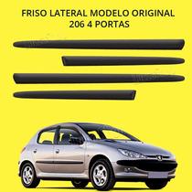 Friso Lateral Borrachão Peugeot 206 4 Portas Modelo Original