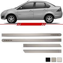 Kit Friso Lateral Prata Enseada Fiesta Sedan 2005 A 2010