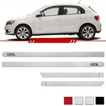 Jogo Friso Gol G6 14 Cores Branco Prata Preto Ou Vermelho