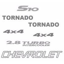 Kit Sete Adesivos Chevrolet S10 Tornado - Até 2005 - Prata