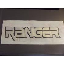 Adesivo Em Vinil Recorte Ranger Prata Aço Escovado