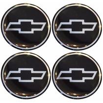 Jogo Emblemas Chevrolet Gm Calota Ou Roda 4 Peças 48mm