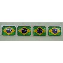 Bandeira Resina Brasil Tarjeta Adesivo Placa 2,3x1,6cm Linda