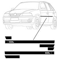 Friso Lateral Vw Gol Personalizado - Bola G3 / G4 - 2 Portas