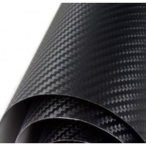 Adesivo Envelopamento Fibra De Carbono Preta Tuning 1x3m