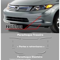 Kit Protetor De Parachoque Honda Civic 12/14
