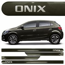 Jogo Friso Lateral Chevrolet Onix Cinza Sand *