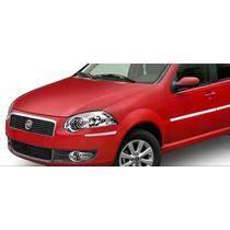 Kit Bumper Friso Protetor Parachoque Cromado Universal Sedan
