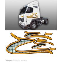 Faixa Decorativa Adesiva Caminhão Volvo 2002 Fh12 Amarela