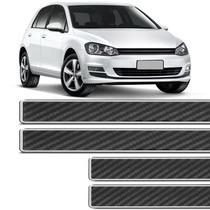 Soleira Fibra Carbono Resinada Universal Varios Carros 4pçs
