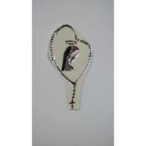 Adesivo Terço Santinha Preenchido Resinado Prata - 15x8cm
