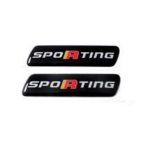 Par Emblema Adesivo Sporting Fiat Punto Palio Novo Uno Siena