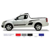 Kit Adesivo Sport Gm Chevrolet Montana Faixas Laterais Carro