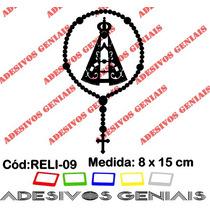 Adesivo Religioso Terço Nossa Senhora Aparecida Reli-09