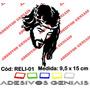 Adesivo Religioso Cristão Católico Face Jesus Cristo Reli-01