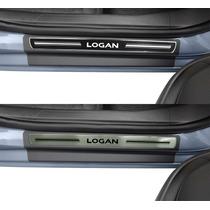 Soleira Premium Novo Logan 2014 2015 Kit 8 Pçs - 1 Ano Gar