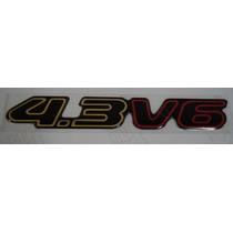 Emblema 4.3 V6 S-10 E Blazer Executive Dourado Resinado
