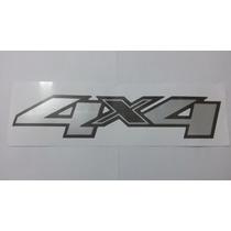 Emblema Adesivo 4x4 S10 E Blazer 2013- Adesivo Aço Escovado