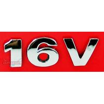 Simbolo Emblema Lateral Peq 16v Para Vw Gol Geração 3