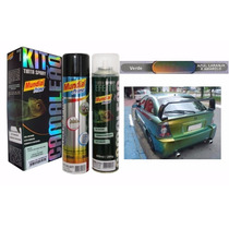 Kit Tinta Spray Camaleão Spray Primer + Efeito - Verde