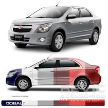 Jogo Friso Lateral Transparente Resinado Chevrolet Cobalt