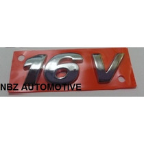 Emblema 16v Cromado Inclinado(gol Gti) G3/g4- Nbz Automotive
