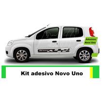 Adesivo Novo Uno 2/4 Porta Kit Faixa Lateral Tuning Carro 6