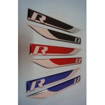 Adesivo Resinado R-line Tiguan, Passat, Golf, Outros (par)